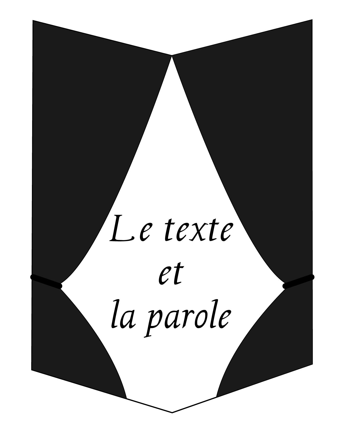 Le Texte et La Parole